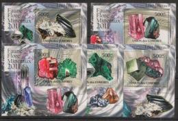 Comores - 2011 - KLB N°Yv. 2200 à 2204 - Minéraux - Neuf Luxe ** / MNH / Postfrisch - Minerali