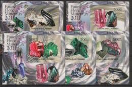 Comores - 2011 - KLB N°Yv. 2200 à 2204 - Minéraux - Non Dentelé / Imperf. - Neuf Luxe ** / MNH / Postfrisch - Minerali