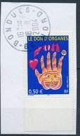 France -  Don D'organes YT 3677 Obl.sur Fragment - Oblitérés