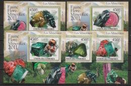 Comores - 2011 - KLB N°Yv. 2205 à 2209 - Minéraux - Neuf Luxe ** / MNH / Postfrisch - Minerali