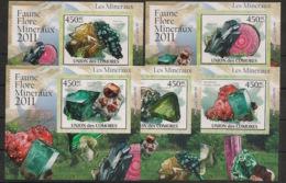 Comores - 2011 - KLB N°Yv. 2205 à 2209 - Minéraux - Non Dentelé / Imperf. - Neuf Luxe ** / MNH / Postfrisch - Minerali