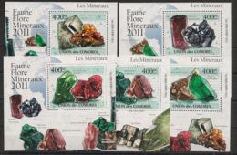 Comores - 2011 - KLB N°Yv. 2210 à 2214 - Minéraux - Neuf Luxe ** / MNH / Postfrisch - Minerali