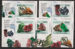 Comores - 2011 - KLB N°Yv. 2210 à 2214 - Minéraux - Non Dentelé / Imperf. - Neuf Luxe ** / MNH / Postfrisch - Minerali