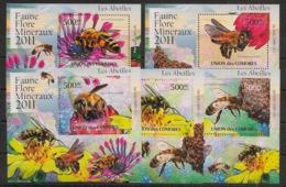 Comores - 2011 - KLB N°Yv. 2215 à 2219 - Abeilles - Neuf Luxe ** / MNH / Postfrisch - Api