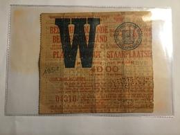 TICKETS D'ENTRÉE BELGIQUE - HOLLANDE 14 OCTOBRE 1951 STADE  R. ANTWERP F.C - Biglietti D'ingresso