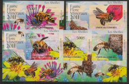 Comores - 2011 - KLB N°Yv. 2215 à 2219 - Abeilles - Non Dentelé / Imperf. - Neuf Luxe ** / MNH / Postfrisch - Api