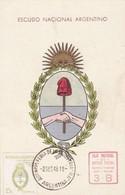 ESCUDO NACIONAL ARGENTINO-MATASELLO ESPECIAL CAJA NACIONAL DE AHORRO POSTAL AGENCIA GATH Y CHAVES AÑO 1943 - BLEUP - Barche