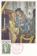 France Y&T 1661/2 Deux Cartes Croix Rouge 1er Jour 12/12/70 - Cartoline Maximum