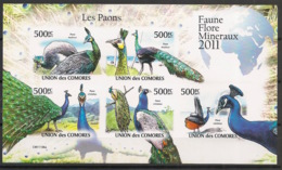 Comores - 2011 - N°Yv. 2150 à 2154 - Paons - Non Dentelé / Imperf. - Neuf Luxe ** / MNH / Postfrisch - Paons