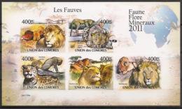 Comores - 2011 - N°Yv. 2165 à 2069 - Fauves - Non Dentelé / Imperf. - Neuf Luxe ** / MNH / Postfrisch - Félins