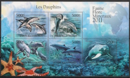 Comores - 2011 - N°Yv. 2170 à 2174 - Dauphins - Neuf Luxe ** / MNH / Postfrisch - Dauphins