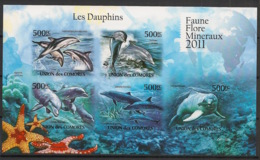 Comores - 2011 - N°Yv. 2170 à 2174 - Dauphins - Non Dentelé / Imperf. - Neuf Luxe ** / MNH / Postfrisch - Dauphins