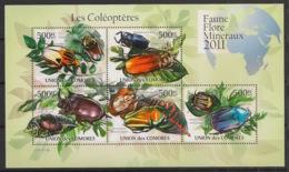 Comores - 2011 - N°Yv. 2190 à 2194 - Coléoptères - Neuf Luxe ** / MNH / Postfrisch - Insectes