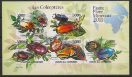 Comores - 2011 - N°Yv. 2190 à 2194 - Coléoptères - Non Dentelé / Imperf. - Neuf Luxe ** / MNH / Postfrisch - Insectes