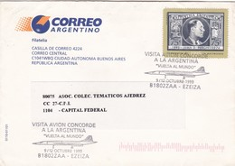 """VISITA AVION CONCORDE A LA ARGENTINA """"VUELTA AL MUNDO"""" VUELO ESPECIAL 1999 - BLEUP - Argentinien"""