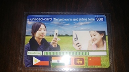 Israel-philippines-uniload Card The Best Way To Send Airtime Home-300-mint Card+1card Prepiad Free - Filippine