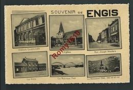 Souvenir De Engis - Multi-vues: Maison Communale, Eglise, Rue Joseph Wauters, Gare, Nouveau Pont, Monument F.N.C. - Engis