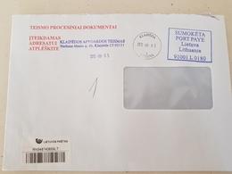 Lithuania Litauen Cover Sent From Klaipeda To Pagegiai 2012 - Lituania