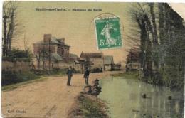 D60 - NEUILLY EN THELLE - HAMEAU DE BELLE - Hommes Sur La Route - Carte Tramée  Colorisée - Andere Gemeenten