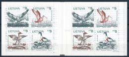 Mi MH 1 Booklet ** MNH / Birds, Osprey, Black-tailed Godwit, Merganser, Shelduck, Slania, Joint Issue - Lithuania