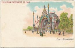 D75 - PARIS - EXPOSITION UNIVEERSELLE DE 1900 - PORTE MONUMENTALE - Carte Colorisée - PRECURSEUR - Exhibitions