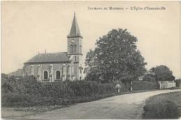 D77 - EMERAINVILLE - L'EGLISE D'EMERAINVILLE - ENVIRONS DE MALNOUE - Homme Avec Un Panier Sur Le Bord De La Route - France
