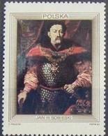 ART GEMÄLDE PAINTING HISTORY PORTRAIT KING SOBIESKI POLAND POLEN POLOGNE 1983 MNH Mi 2879 - Militaria