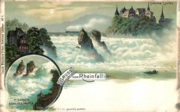 GRUSS VOM RHEINFALL  SCHLOSS LAUFEN - Suisse