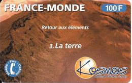 CARTE-PREPAYEE-KOSMOS-100 F -ELEMENTS-TERRE-02/01-60000 Ex-V°Code GN°Lasers-GR ATTEE- T BE-RARE - France