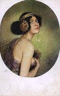 """Pausinger  -  Attractive Dark-haired Girl In The Role Of Salome : """"Master Of Colour"""" Series - Illustrators & Photographers"""