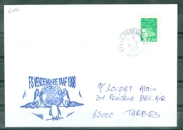 MARCOPHILIE - FREGATE VENDEMIAIRE TAAF 1998 Cachet De LE PORT MARINE REUNION Du 19 - 3 - 1998 - Postmark Collection (Covers)