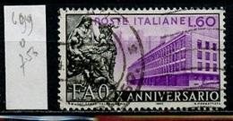 Italie - Italy - Italien 1955 Y&T N°699 - Michel N°950 (o) - 60l FAO - 1946-.. République