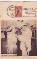 D.ANESIA PINHEIRO MACHADO CINQUENTENARIO DO 1° VOO DU MAIS PESADO DUE- EXPO ANO SANTOS DUMONT SPECIAL COVER 1956 - BLEUP - Avions