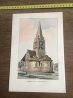 1901 ANGERS ABBAYE SAINT AUBIN - Old Paper