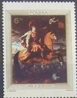 ART GEMÄLDE PAINTING HISTORY PORTRAIT KING SOBIESKI ZU PFERD ON HORSE POLAND POLEN POLOGNE 1983 MNH Mi 2880 - Militaria