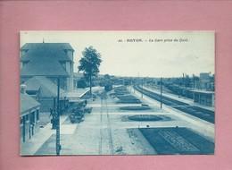 CPA - Noyon  - - La Gare Prise Du Quai - Noyon