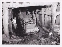 PHOTO ANCIENNE,MINE,MINEUR,RANDENS,73,74,SAVOIE,1954,CONSTRUCTION CENTRALE ELECTRIQUE SOUTERRAINE,RANDANS,ISERE,ARC, - Places