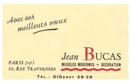 JEAN BUCAS  MEUBLES MODERNES  DECORATION   PARIS RUE TRAVERSIERE - Calendarios