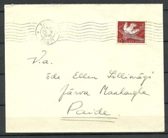 Estland Estonia 1940 Domesti Letter Michel 162 Als Einzelfrankatur/as Single From Tartu To Paide - Estland