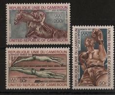 Cameroun - 1972 - Poste Aérienne PA N°Yv. 202 à 204 - Olympics / Munich 72 - Neuf Luxe ** / MNH / Postfrisch - Cameroon (1960-...)