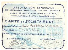 ASSOCIATION SYNDICALE DE RECONSTRUCTION DU VIEUX PORT MARSEILLE  N°618 - Cartes