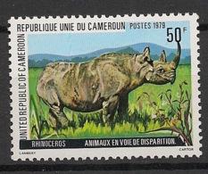 Cameroun - 1979 - N°Yv. 634 - Rhinocéros - Neuf Luxe ** / MNH / Postfrisch - Cameroon (1960-...)