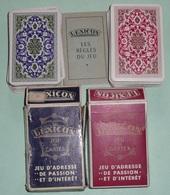 Lot De 2 Anciens  Jeux De Cartes LEXICON Avec Règles De Jeu, 2 Versions Dos Différents Rouge/bleu - Jeux De Société