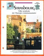 67 STRASBOURG Ville France  Géographie Pays Ou Villes Fiche Dépliante - Géographie