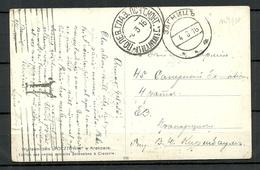 Estland Estonia 1916 Post Card O SANGASTE Sagnits Note Nymphe Goplana Cencor Marking - Estland