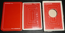 Lot De 2 Anciens  Jeux De 32 Cartes Sté Société PERNOD SA S.A., 2 Versions Dos Différents Dont Un NEUF En Boite, Anis - 32 Cartes