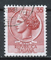 Italie - Italy - Italien 1955-60 Y&T N°717 - Michel N°971 (o) - 35l Monnaie Syracusaine - 1946-.. République