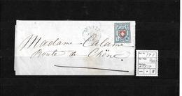 1843-1852 Kantonalmarken Rayon I → 1854 Brief Genève Route De Chene   ►SBK-17II ATTEST◄ - 1843-1852 Timbres Cantonaux Et  Fédéraux