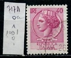 Italie - Italy - Italien 1955-60 Y&T N°717A - Michel N°1074 (o) - 40l Monnaie Syracusaine - 1946-.. République