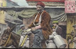 SALONIQUE Sur La Place Du Marché - Cachet Constantinople 1910 Timbre Levant Type Mouchon 10 Centimes Rouges - Grèce